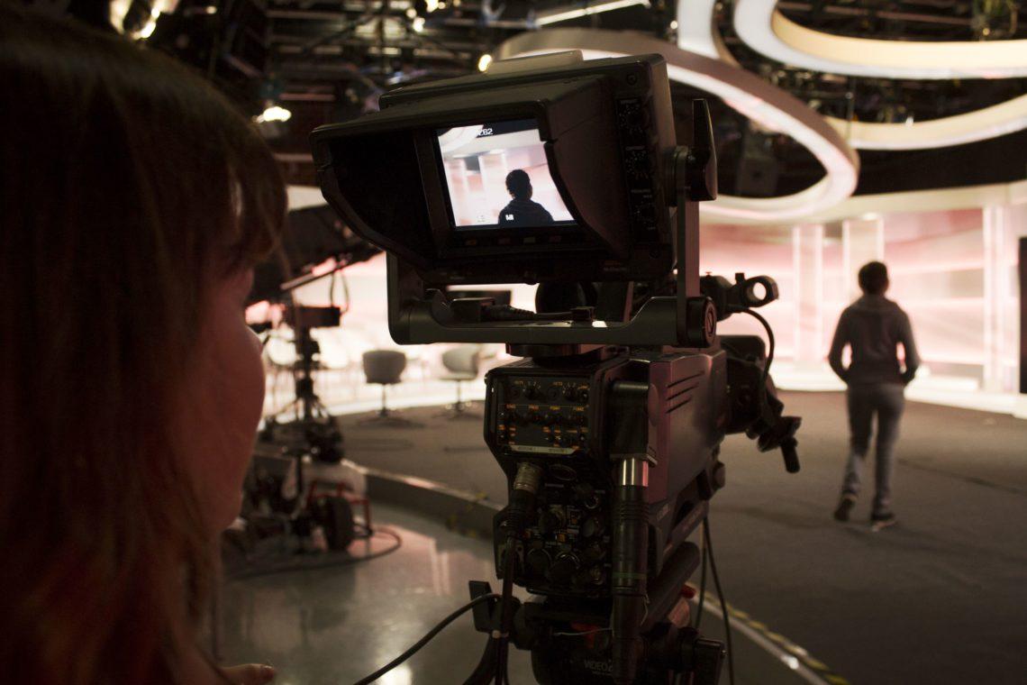 Backstage zajęć z produkcji filmowej w TVN
